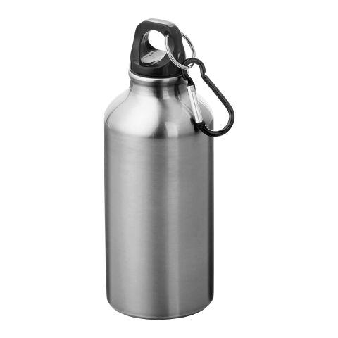 Oregon 400 ml Trinkflasche mit Karabiner silber | ohne Werbeanbringung | Nicht verfügbar | Nicht verfügbar