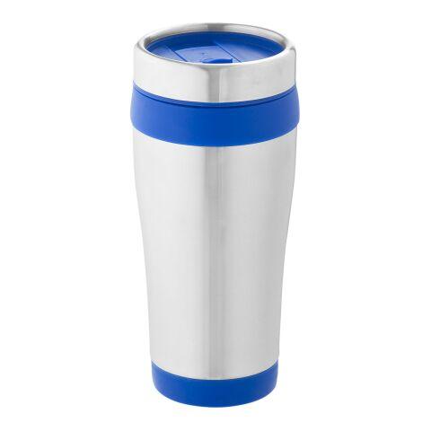 Elwood Isolierbecher silber-blau | ohne Werbeanbringung | Nicht verfügbar | Nicht verfügbar