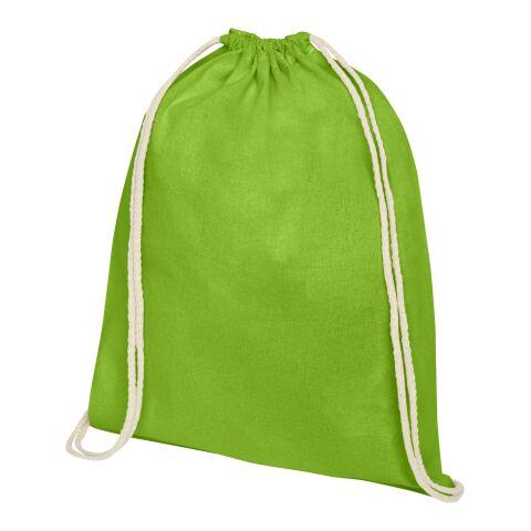 Oregon Premium Sportbeutel limettengrün   3-farbiger Siebdruck   Vorderseite   230 mm x 320 mm
