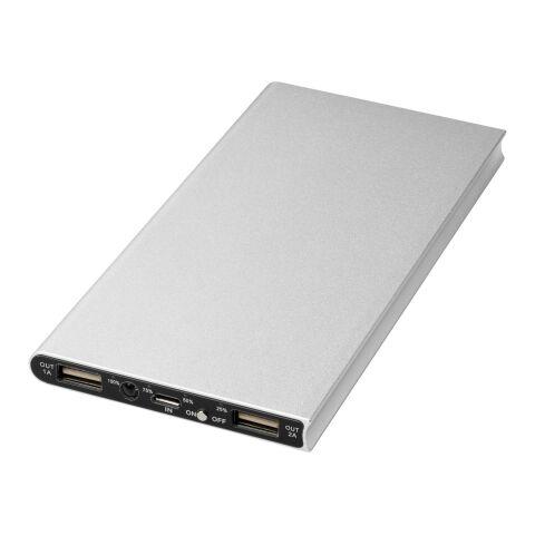 Plate 8000 mAh Aluminium-Powerbank silber   ohne Werbeanbringung   Nicht verfügbar   Nicht verfügbar