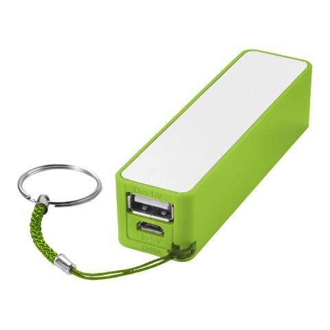 Jive Powerbank 2000 mAh limettengrün-weiss   ohne Werbeanbringung   Nicht verfügbar   Nicht verfügbar   Nicht verfügbar