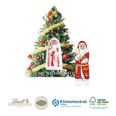 """Schokokarte """"Business"""" mit Lindt Weihnachtsmann - Weihnachtsbaum, Klimaneutral, FSC®-zertifiziert ohne Werbeanbringung"""