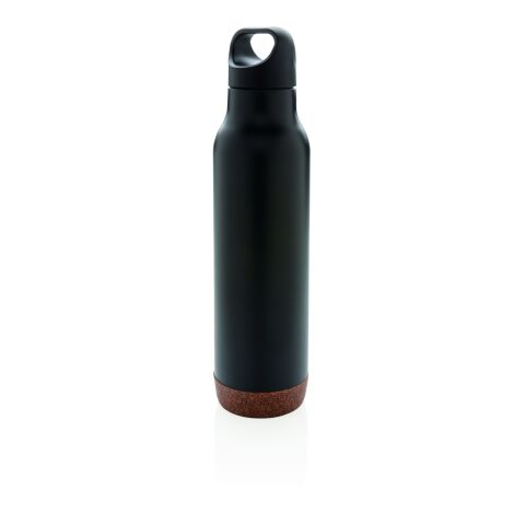 Auslaufsichere Vakuum-Flasche mit Kork schwarz | ohne Werbeanbringung | Nicht verfügbar | Nicht verfügbar | Nicht verfügbar