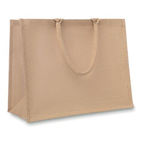 Jute Shopping Tasche beige   1-farbiger Transferdruck   Rückseite   300 mm x 250 mm   999999