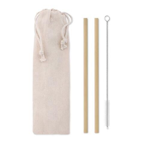 Bambus Trinkhalme-Set