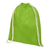 Oregon Premium-Baumwollturnbeutel hellgrün | 3-farbiger Siebdruck | Vorderseite | 230 mm x 320 mm