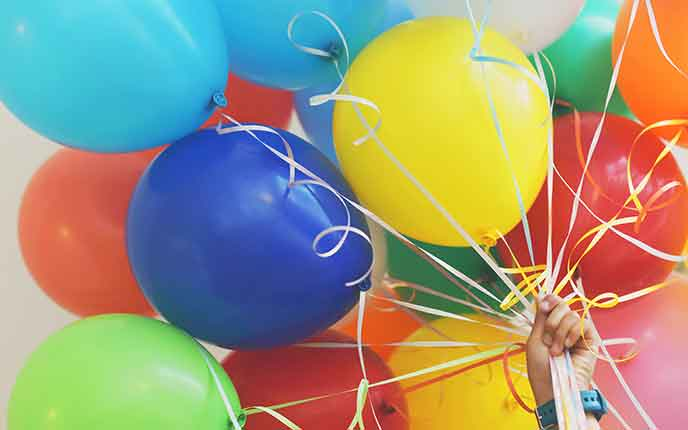 Luftballons als Give-away für Kinder